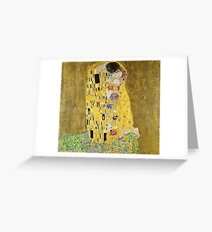 Gustav Klimt - The Kiss 1908 - 1909  Greeting Card