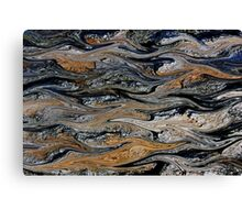 Waves of Crude Canvas Print