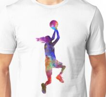 young woman basketball player 05 Unisex T-Shirt