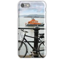 rescue lifeboat in cobh with bicycle iPhone Case/Skin