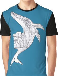 Pencil Humpback Whale  Graphic T-Shirt