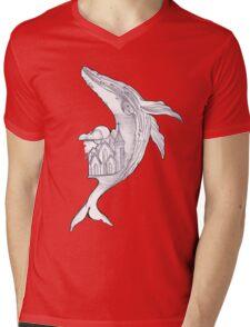 Pencil Humpback Whale  Mens V-Neck T-Shirt