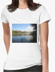 A Fine Autumn Morning By The River Womens Fitted T-Shirt