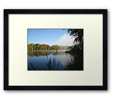 A Fine Autumn Morning By The River Framed Print