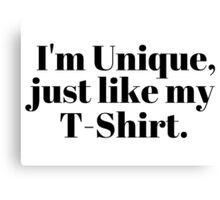 Funny Casual Unique Gift Simple T-Shirts Canvas Print