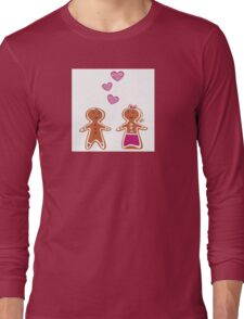 Vector Gingerbread People - Couple isolated on white Long Sleeve T-Shirt