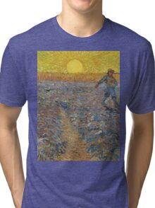 Vincent Van Gogh - Sower With Setting Sun (After Millet), 1888 Tri-blend T-Shirt