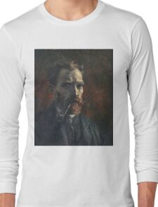 Vincent Van Gogh - Self Portrait With Pipe, 1886 Long Sleeve T-Shirt