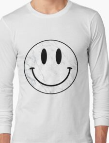 Marble Smiley Face Long Sleeve T-Shirt