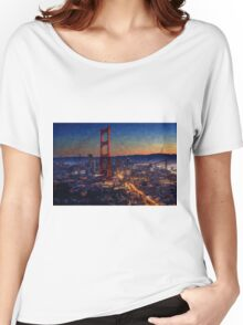 San Francisco collage Women's Relaxed Fit T-Shirt