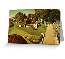 Grant Wood - Birthplace Of Herbert Hoover  Greeting Card