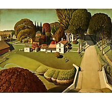 Grant Wood - Birthplace Of Herbert Hoover  Photographic Print
