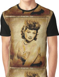 Lucille Ball Hollywood Actress Graphic T-Shirt