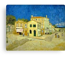 Vincent Van Gogh -  Yellow House, ` Street, September 1888 - 1888  Canvas Print
