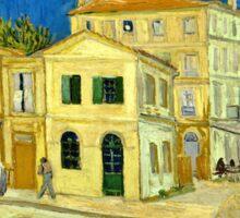 Vincent Van Gogh -  Yellow House, ` Street, September 1888 - 1888  Sticker