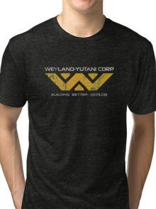 Weyland Yutani - Distressed Yellow Variant Tri-blend T-Shirt