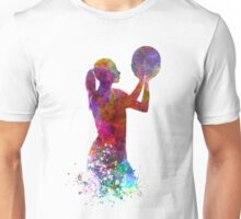 Young woman basketball player 03 in watercolor Unisex T-Shirt