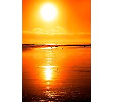 rod on a sunset beach Photographic Print