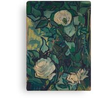 Vincent Van Gogh - Roses And Beetle, 1890 Canvas Print