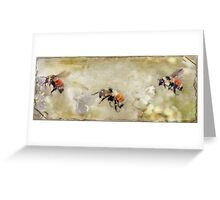 Dance Of The Bumble Bees Greeting Card