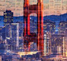 San Francisco Sky Line and the Golden Gate Bridge Sticker