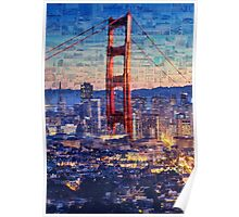 San Francisco Sky Line and the Golden Gate Bridge Poster