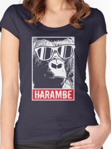 Harambe Forever Women's Fitted Scoop T-Shirt