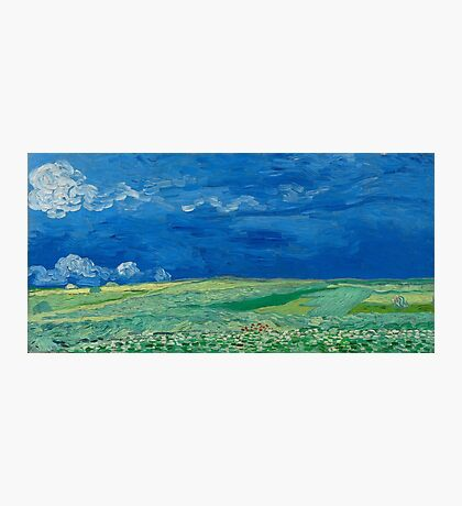 Vincent Van Gogh - Wheatfields Under Thunderclouds, 1890 Photographic Print