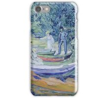 Vincent Van Gogh - Rowing Boats On  Banks Of  Oise, 1890 iPhone Case/Skin