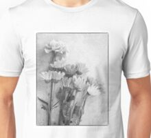 Floral Study in B&W Unisex T-Shirt