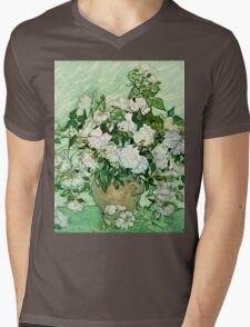 Vincent Van Gogh - Roses 1890  Mens V-Neck T-Shirt
