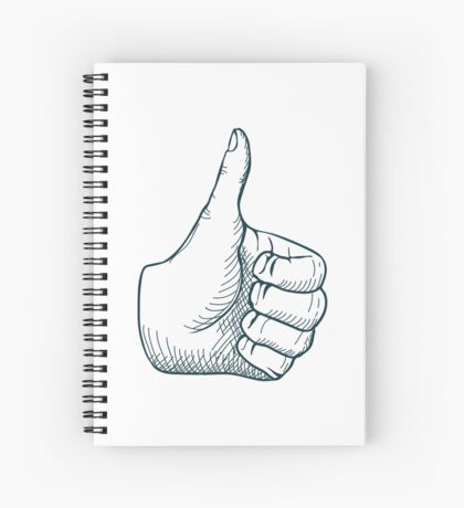 Thumbs Up illustration Spiral Notebook