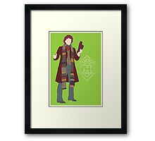 Doctor Who No. 4 Tom Baker - Poster & stickers Framed Print