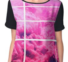 Clouds Vector Design Chiffon Top