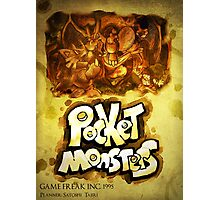 CAPSULE MONSTERS / POCKET MONSTERS POSTER Photographic Print