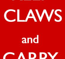 Keep Claws and Carry On Sticker