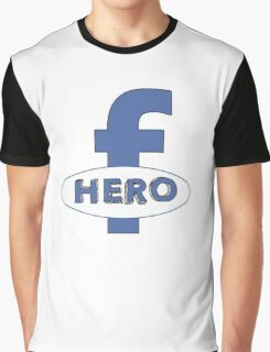 Cool Funny Facebook Hero Typography  TShirts and Gifts Graphic T-Shirt