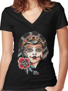 Gypsy Lady - Alex Bach Women's Fitted V-Neck T-Shirt