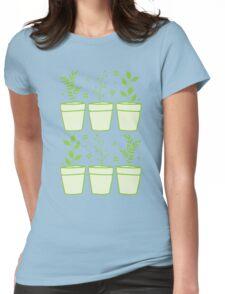 six pot plants Womens Fitted T-Shirt