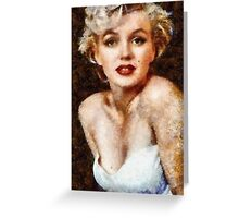 Marilyn Monroe Vintage Hollywood Actress Greeting Card