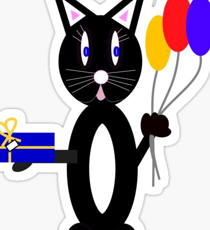 Party Cat Sticker