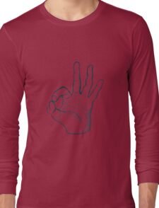 Hand drawn sketch vintage ok sign Long Sleeve T-Shirt