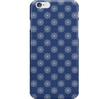 Denim Blue Asian Inspired Abstract Flower Pattern iPhone Case/Skin