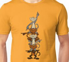 Totem Pole Monkeys Unisex T-Shirt
