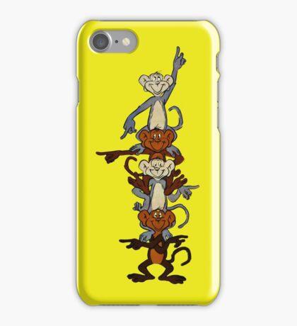 Totem Pole Monkeys iPhone Case/Skin