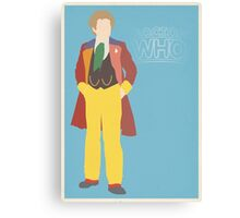 Doctor Who No. 6 Colin Baker - poster & stickers Canvas Print
