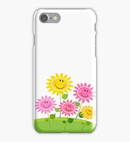 Happy Spring Flower Garden. Vector Illustration. iPhone Case/Skin
