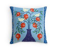 Pomegranate Doves Throw Pillow