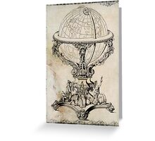 Globe Greeting Card