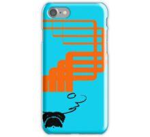 sci-fi hair (orange variant) iPhone Case/Skin